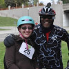 Riders Ang Dezelske and Walter Griffin paired up and enjoyed the ride together